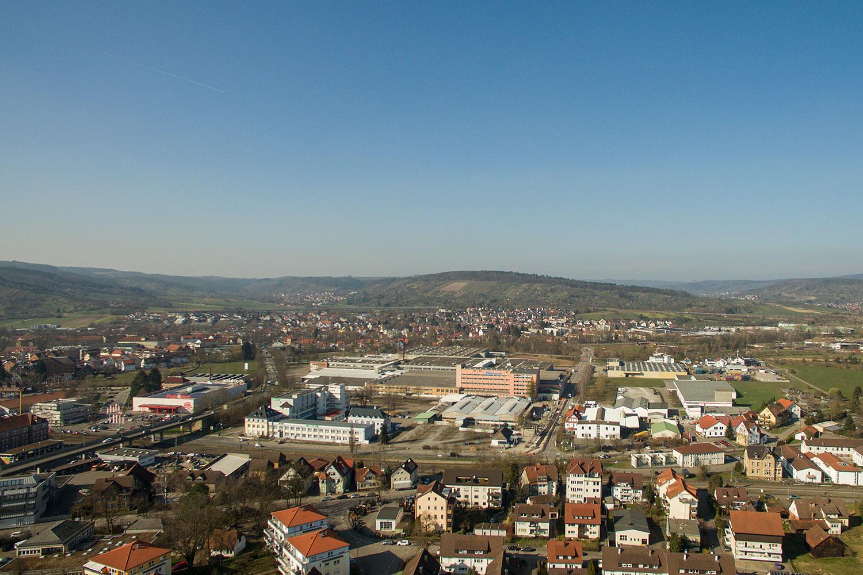 Blick über Schorndorf und das ehemalige Bauknecht-Areal.