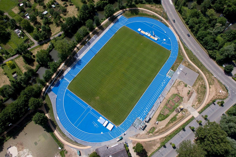 Das neue Stadion im Sportpark Rems in Schorndorf.